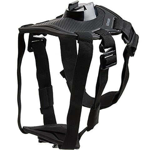 Kitvision Kit d'Accessoires d'Hiver (Poitrine, Épaules, Rallonge) pour Caméra d'Action Kitvision/GoPro HERO4/HERO3+/HERO3/HERO2 - Noir