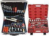 Famex 620-21 Werkzeug Komplettset Top-Qualität in ABS Schalenkoffer 32 L mit 66-teiligem Steckschlüsselsatz