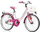 Lombardo Bicicletta Bambina 20' Mariposa 20 SC White/FuchsiaGlossy
