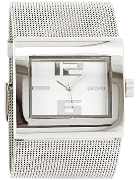 Oozoo XXL Damenuhr mit Metallband - C2360 - Silber poliert