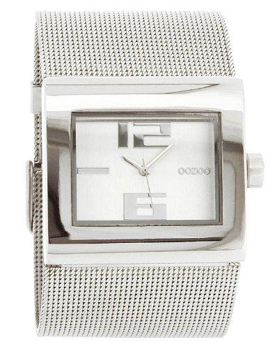 Oozoo C2360–Uhr für Frauen, Metall-Armband Silber