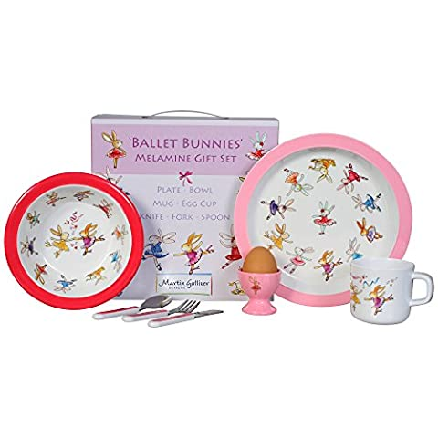 Ballet Bunnies 7 Piece Melamine Gifr Set