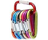 GIMARS 10 Stück Karabiner Aluminium Legierung Karabinerhaken Schlüsselanhänger - verschiedene Farben