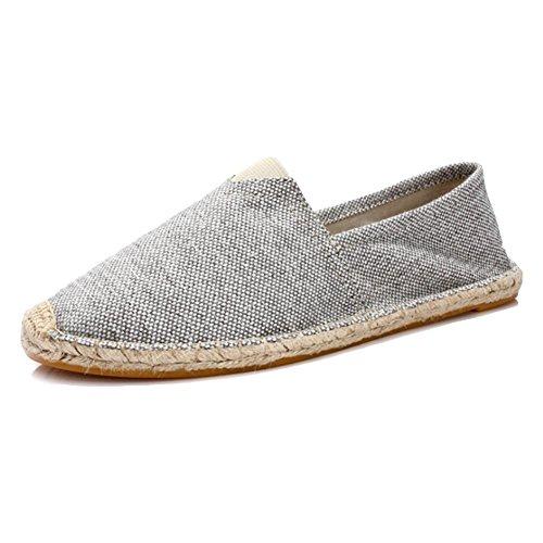 Estate scarpe di tela di canapa maschile scarpe di canapa di paglia scarpe pigro scarpe di canapa Grey