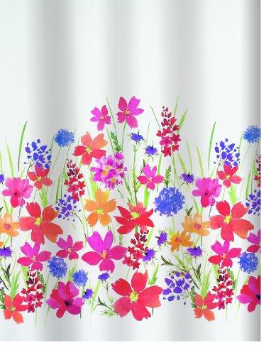 Spirella 10.16402 - Tessuto per tenda doccia Campo, 180 x 200 cm, multicolore