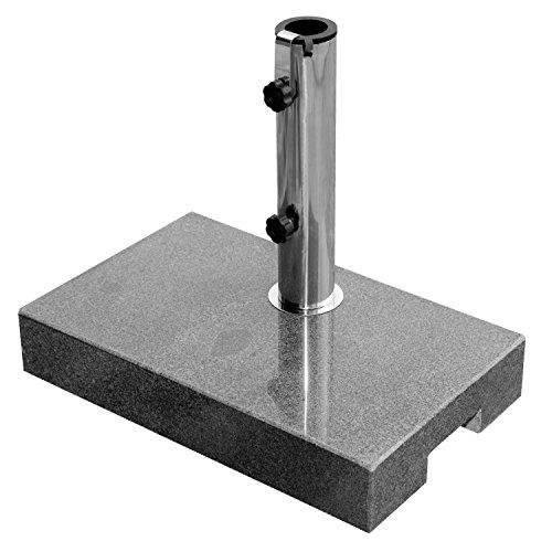 anndora Sonnenschirmständer Granit 25 kg Dunkelgrau Balkonständer Max 48mm Stamm