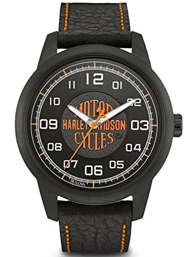 Harley Davidson Men's Watch Leather (78 A116