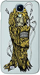 Timpax protective Armor Hard Bumper Back Case Cover. Multicolor printed on 3 Dimensional case with latest & finest graphic design art. Compatible with Samsung I9500 Galaxy S4 Design No : TDZ-26789