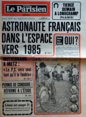 PARISIEN LIBERE (LE) [No 10744] du 07/04/1979 - ASTRONAUTE FRANÂ