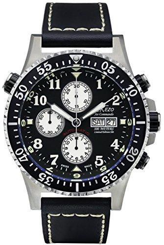 Xezo Air Commando Diver Pilot Swiss Automático Valjoux 7750 Cronógrafo Impermeable Reloj de Pulsera...