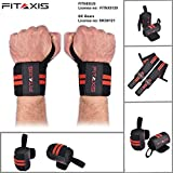Muñequeras   Wrist Wraps/Bands for gimnasio fitness Crossfit Weightlifting para hombres y mujeres (BLACK/RED, 12')