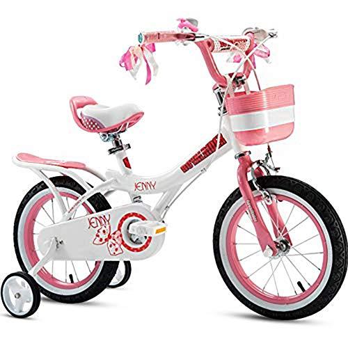 Kinderfahrrad mit Hilfsrad Kohlenstoffstahl-Legierung Material Mädchen Baby 2-4-6-7-8-9-10 Jahre Altes Fahrrad Höhe: 105-125cm,B,18inch ()
