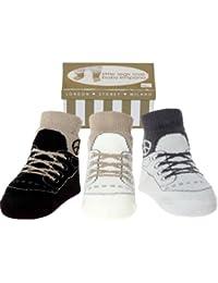 Baby- Emporio -3 Paar-Baby Junge Socken , die wie Schuhe aussehen -Anti-Rutsch-Baumwolle - Geschenkkarton-0-9 Monate