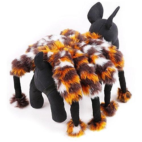 Eastlion Fancy Hund Kostüm Spider Design Halloween Katze Kleid Kostüm Haustier Kleidung, Größe (Katzen Kostüm Für Spider)