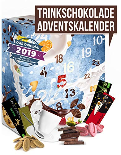 Trinkschokolade Adventskalender Schokolade zum Trinken I Trinkschokolade Probierpacket für eine köstliche Adventszeit I leckere Portionsbeutel