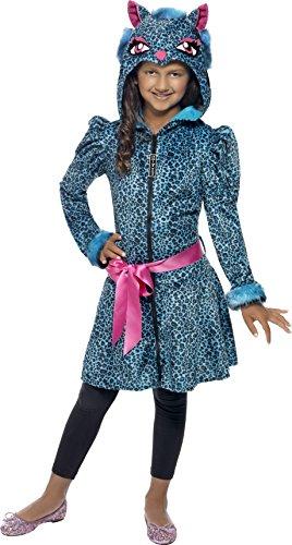 Leopard Kostüm Für Kinder (Smiffys, Kinder Mädchen Leoparden Schätzchen Kostüm, Jacke mit Tier-Kapuze und Gürtel, Größe: L,)