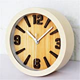 AIKE Continental Creatividad Moda Rural Refrescante Personalidad Silencio Color de Madera Reloj de Mesa Decoración Regalos Cuarto estudiar Sala Restaurante Cuarto de los Niños 12 * 12