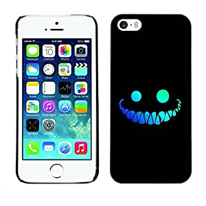 LASTONE PHONE CASE / Hart Hülle Tasche Schutzhülle Cover Shell Für Apple Iphone 5 / 5S / Funny Face Smile Evil Teeth Black