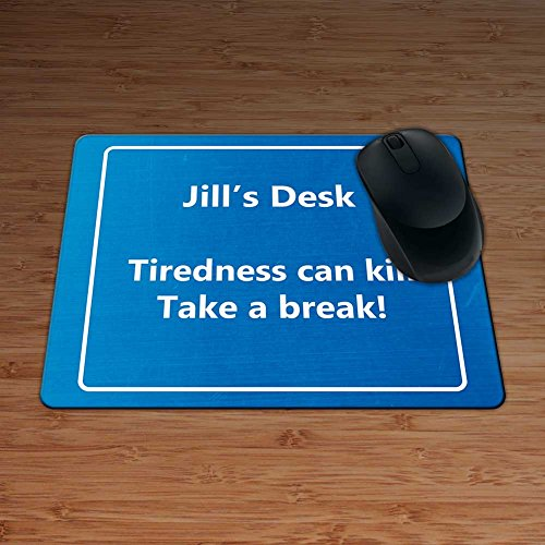 jills-desk-tiredness-can-kill-take-a-break-funny-motorway-sign-personalised-premium-mouse-mat-5mm-th