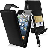 New Apple iPod Touch 5th Generation Flip Case Cover Stand & Stylus Pen Black