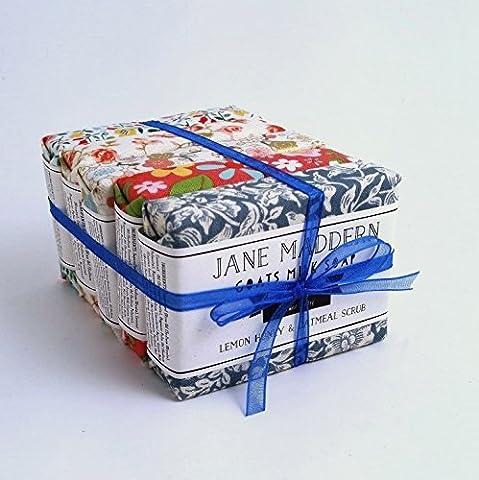 Jane Maddern Handgefertigt Ziegen Milch Seife 90g - 5ER PACK - Hergestellt in Somerset, England