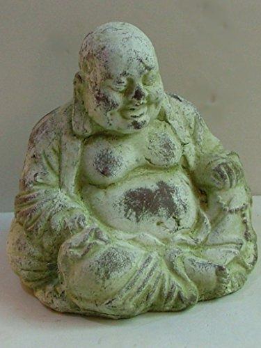 Dapo Leuchten Fernöstlicher Buddha Figur lachende Buddha-Skulptur Keramik H21cm Gartenfigur -