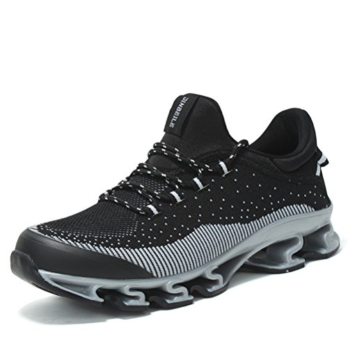 Chaussure de sport loisir sneakers ANTI-dérapage pour voyages exercice homme Noir