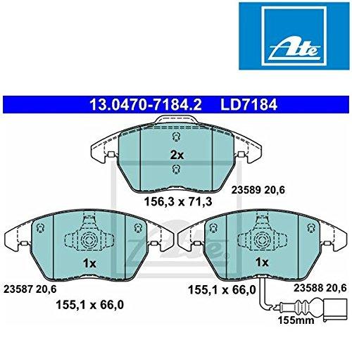 Preisvergleich Produktbild ATE 13047071842 Bremsbelagsatz, Scheibenbremse ATE Ceramic