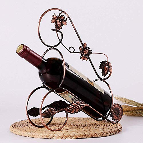 DEED Wein Regal-Europäische Kreative Weinregale Eisen Kunst Weinblätter Mode Farbe Multiple Choice...