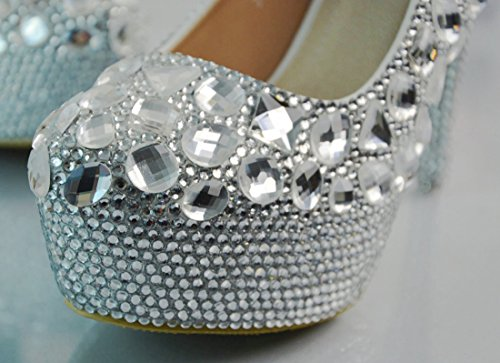 TDA , Semelle compensée femme 11cm Heel Silver