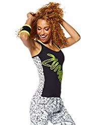 Zumba Fitness Comic Soutien-gorge à bretelle Femme Back to Black FR : S (Taille Fabricant : S)