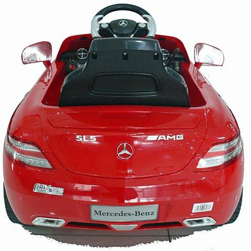 RC Auto kaufen Kinderauto Bild 6: crooza *2X Motoren* Soft-Start Original Mercedes-Benz AMG SLS Lizenz Kinderauto Kinderfahrzeug (ROT)*