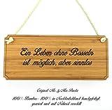 Mr. & Mrs. Panda Türschild Sportart Bosseln Classic Schild - 100% handgefertigt aus Bambus Holz - Anhänger, Geschenk, Vorname, Name, Initialien, Graviert, Gravur, Schlüsselbund, handmade, exklusiv