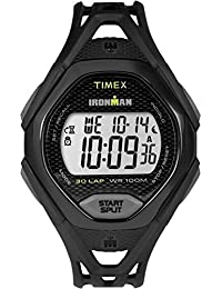 Timex Ironman Sleek 30 Lap LCD Dial with a Black Resin Strap Watch TW5M10400
