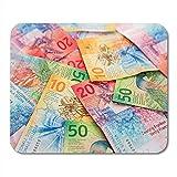 Collection Franc des Nouveaux Billets de Banque suisses émis Tapis de Souris de Jeu Doux et Confortable 22cmx18cm...