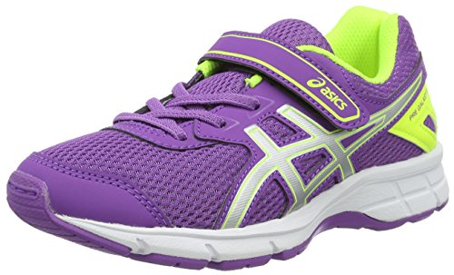 ASICS Pre Galaxy 9 PS, Chaussures de Gymnastique Mixte Enfant, Violet (Orchid/Silver/Safety Yellow), 32.5 EU