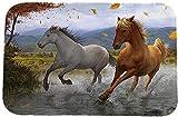 Wei zhe Cartoon Pferde Fußmatte Wohnzimmer-Fußmatte Badezimmer Anti-Rutsch-Teppich 60 x 40 cm, Pattern6, 40CM*60CM