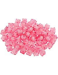 100pcs Perles à Facettes Acryliques Carrés Espaceurs en Vrac DIY