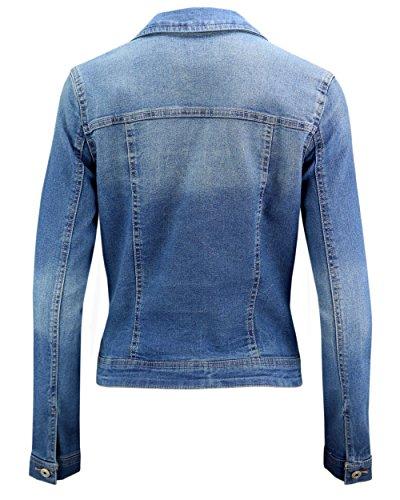 ONLY - Blouson - Veste en jean - Femme Bleu moyen denim