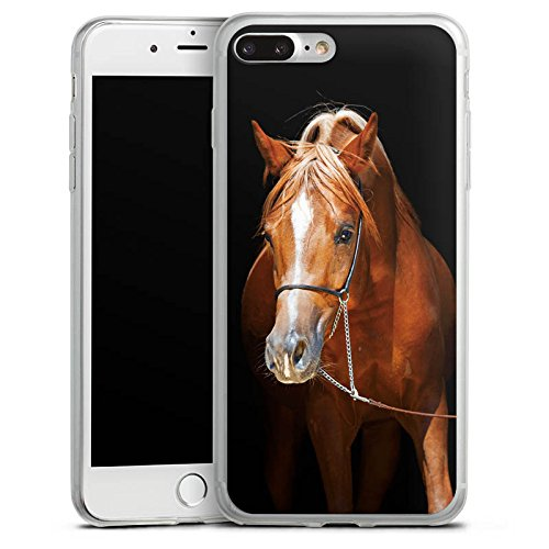 Apple iPhone X Slim Case Silikon Hülle Schutzhülle Pferd Horse Stute Hengst Silikon Slim Case transparent