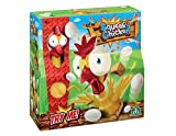 Take as many eggs as you can from the coop before the chicken awakens! The youngest player goes first with each player taking it in turns to steal an egg from the chicken coop. Every time you take an egg the chicken will make a little squawk....