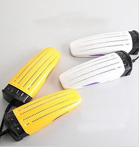 BMHDA Schuhtrockner Elektrisch, SchuhwRmer FüR Stiefel Timing Funktion Quad-Core Mit Duft Schuhe Trockner Bestehen Auf Arbeit 2500 Stunden , yellow