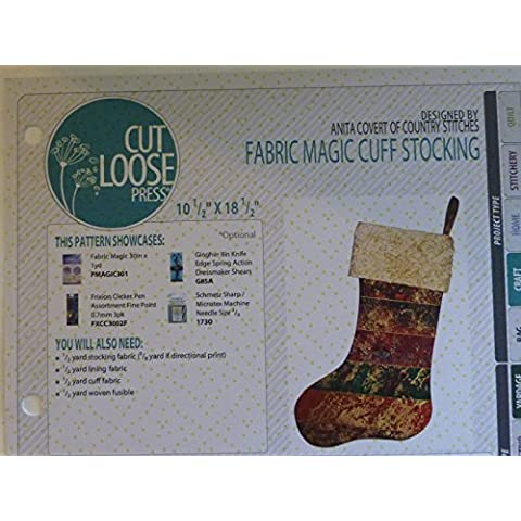 Magic Cuff calza ~ ~ da taglio loose Stampa per cucito e Quilting