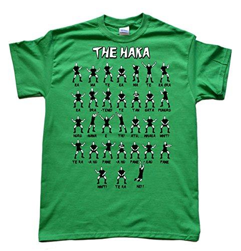 JeKAt New Zealand Rugby Haka Grün T-Shirt, Größe 3XL