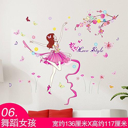 Pegatinas de pared 3D Monte Sky girls dormitorios dormitorios autoadhesivo creativo ,06