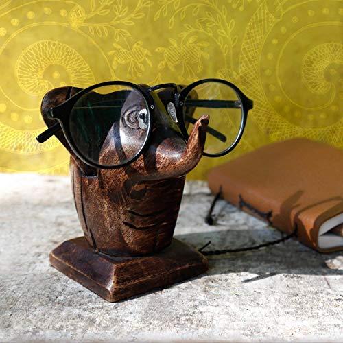 Store Indya, Klassische Hand geschnitzte Palisander Elefant geformter Brille Spectacle Inhaber stehen Geschenke fur Sie oder Ihn -