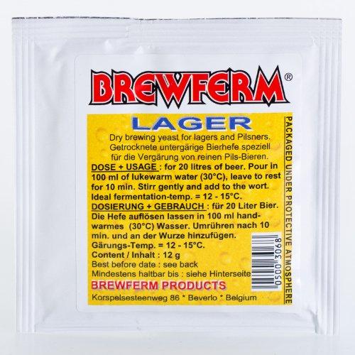 Brewferm Lager 12g untergärige Bierhefe für Pilsner und Lagerbiere Trockenhefe