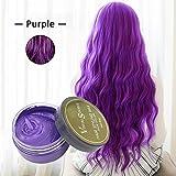 Colore capelli cera bianca, Bulary Hair styling Wax argilla da modellare Fluffy Hair styling crema colorante per capelli cera di argilla fango