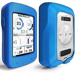 TUSITA Funda de Silicona + Protector de Pantalla Case Carcasa para Garmin Edge 820 / Edge Explore 820 (Azul)