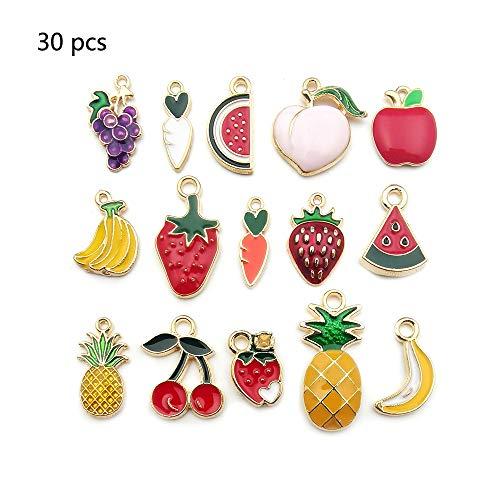 30 Stück sortierte Emaille-Anhänger für Ohrringe, Halskette, Armband, gemischt